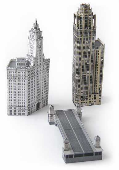 Michigan Avenue Skyscraper models